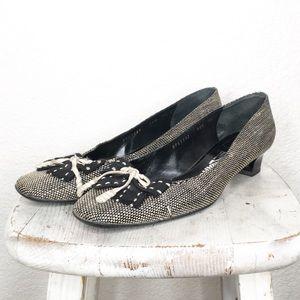 Salvatore Ferragamo Shoes Bow Toe Kitten Heel
